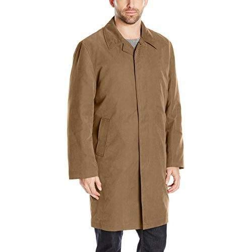 London Fog Men's Durham Single Breasted Rain Coat with Zip-Out Liner, British Khaki, 50 ()