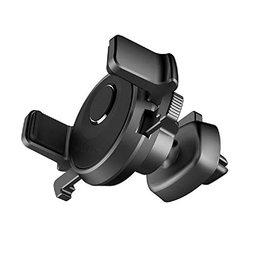 DFV mobile - Rotatable Car Air Vent Phone Holder Stand Mount with Automatic Clip for => INTEX Aqua Lions E3 (2018) > Black