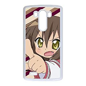 angry chibi girl LG G3 Cell Phone Case White PSOC6002625717091