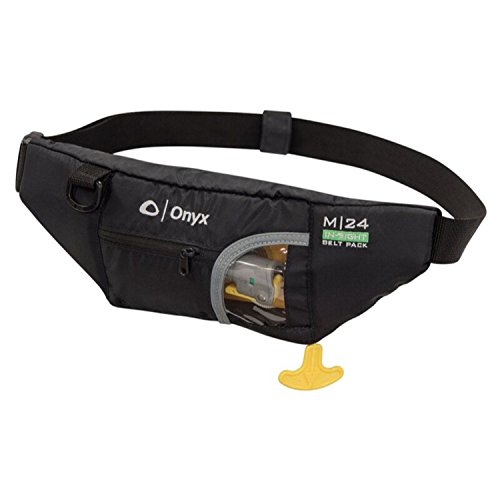 Onyx 130200-700-004-16 M-24 in-Sight Manual Inflatable Belt Pack, Adult, Black