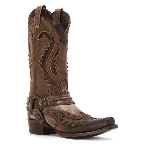 Stetson Mens 12-020-6104-0113 Stivale Da Cowboy Nero