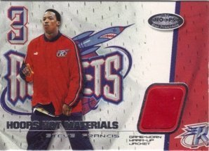 Steve Francis Jersey - 2001-02 Hoops Hot Prospects Hot Materials #5 Steve Francis Jersey