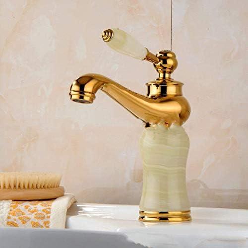 ゆば ゴールドヨーロピアンスタイルの洗面ゴールド銅めっきレトロシンク浴室の蛇口
