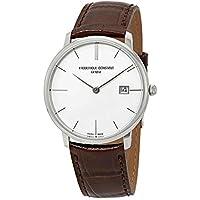 Frederique Constant Slimline White Dial Leather Strap Men's Watch FC220bRS5S6