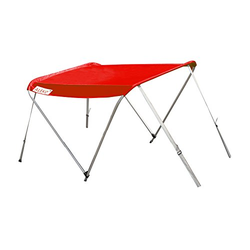 ALEKO BSTENT380R Summer Canopy Boat Tent Sun Shelter Sunshade for Inflatable Boats 6 x 5 Feet Red