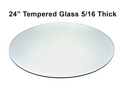 Audio-Visual Direct Tempered Glass Patio Table Top with Rounded Edge (24