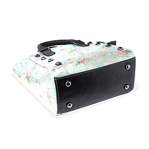 Bags Handbags Field Of Shoulder TIZORAX Tote Women's Leather Flowers Z80xnwq4v