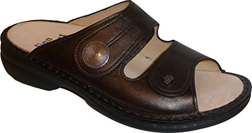 Finn Comfort - Zuecos de Piel para mujer marrón Bronce