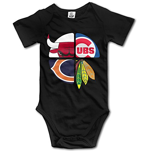 elishaj-chicago-sports-logo-mixed-babys-bodysuit-outfits-black-size-12-months