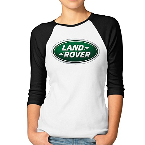 Price comparison product image Ouidtk Women's Land Rover Logo Half Sleeve T-shirts