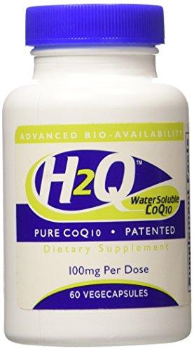H2Q 8 x Absorption CoQ10 100mg (Non GMO, Soy Free, Vegan) 60 vegecaps