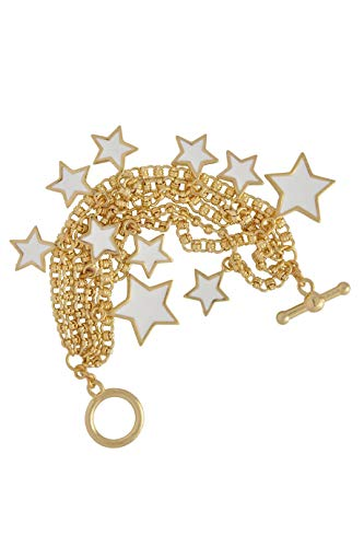 Kenneth Jay Lane Stars White Gold Bracelet ()