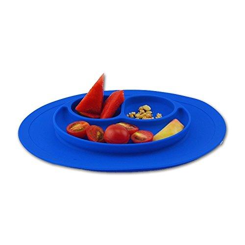 Placemat Kids Teller Untersetzer Silikon Baby und Kinder. Für Hochstuhl - mikrowellengeeignet - spülmaschinenfest 26 * 22cm -
