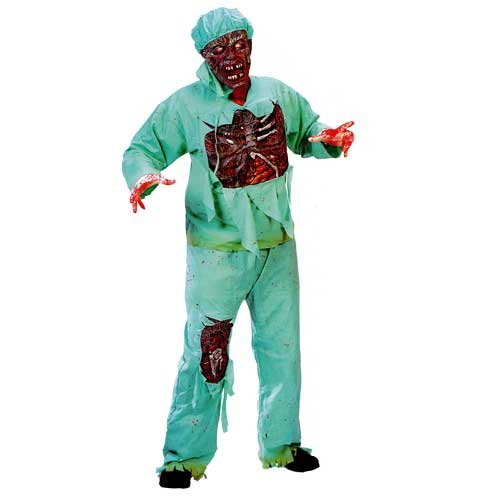 Gory Halloween Costumes For Couples (Zombie Doctor Plus Size Adult Costume - Plus Size)