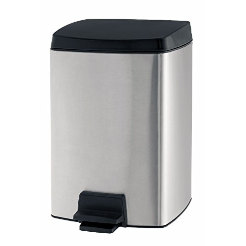 Trash Brabantia Rectangular Can (Brabantia Pedal Bin , 10 Liter , rectangular ,with plastic inner bucket ,Matte Steel Fingerprint Proof , 461804)