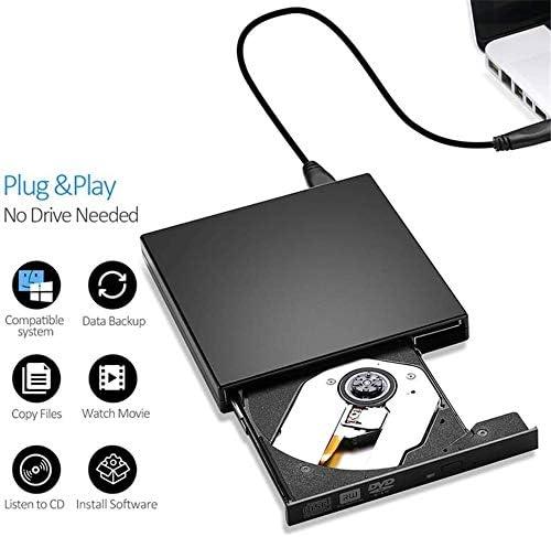KJRJFD USB 3.0 CDドライブ、ポータブル超薄型DVDドライブ、CD、DVD +/- RWバーナー/ライタ/プレーヤー、ノートパソコンのデスクトップMacBookの高速伝送