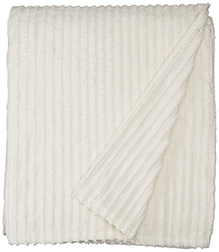 - Beatrice Home Fashions Channel Chenille Bedspreads, Queen, Ivory