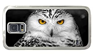 Hipster uncommon Samsung Galaxy S5 Cases snowy owl PC Transparent for Samsung S5