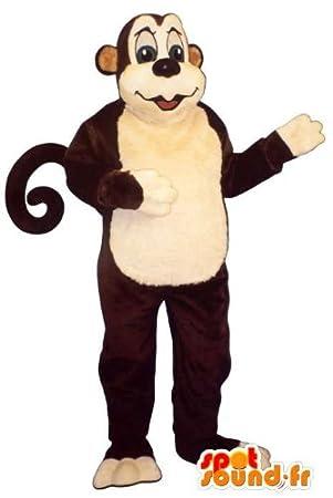 Disfraz de mono. Marrón traje de mono: Amazon.es: Juguetes y juegos