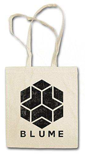 BLUME Hipster Shopping Cotton Bag Borse riutilizzabili per la spesa – società Watch Game Corporation Dogs Logo Insignia Sign