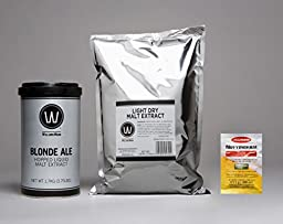 Premium Blonde Ale No Boil Complete Beer Kit, Makes 5-6 gallons