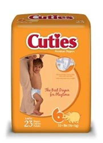 Cuties CR6001 First Quality Baby Tab Closure Diaper, Size 6 by Cuties