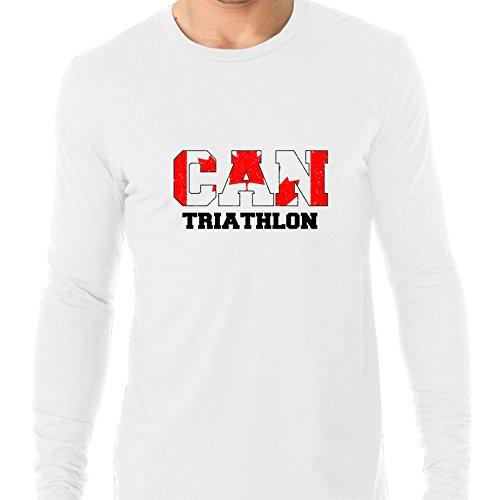 Canada Triathlon - Olympic Games - Rio - Flag Men's Long Sleeve - Triathlon Apparel Canada