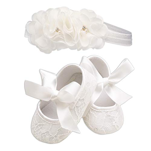Light Ivory Lace Baptism Christening Shoe and