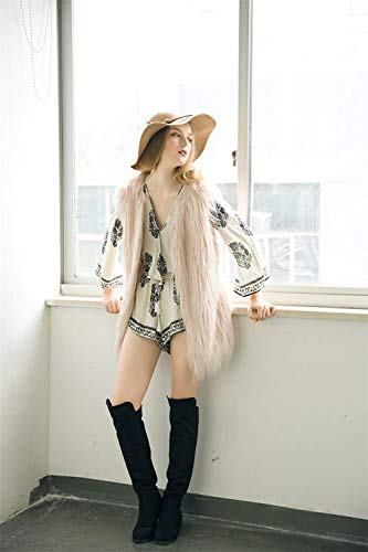 Betrothales Di Alta Autunno Squisito Lanuginoso Outerwear Primaverile Gilet Giacca Plus Donna Relaxed Qualit Prodotto Sleeveless Canottiera Coat Pelliccia qUzSpMV