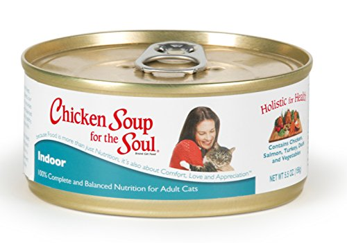 Chicken Soup for the Cat Lover's Soul Canned Cat Food for Adult Cat, Hairball Chicken Flavor (Pack of 24 5.5 Ounce Cans)