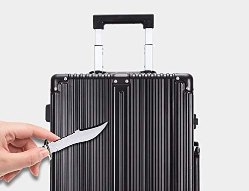 GaoMiTA 21 inch 25 inch Boarding Checked Baggage Gift Box Universal Wheel Travel Trolley case Aluminum Frame Thickening Color : Silver, Size : 25
