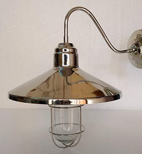 Lámpara de pared de estilo antiguo artístico de latón brillante para techo, pasillo, escalera, cafetería, luz de pared