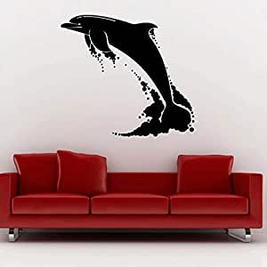 Walliv Decals Dolphin Jumping In Sea [birds & Animals, An06]