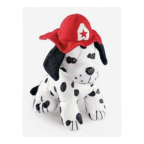 Fun Express Plush Dalmatian Fire Dog w/ Firefighter Hat - Firefighter Teddy Bear