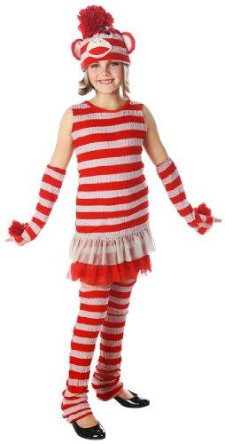 Tween Sock Monkey Girls Costume - Tween 10-12 ()