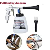 WAQIA HOUSE Car Cleaning Gun Interior Washing Air Blow Gun Automotive Air Pulse Cleaning Equipment High Pressure Foamaster Nozzle Sprayer with 1L Foam Bottle 2 Set Nozzle Sprayer Connector