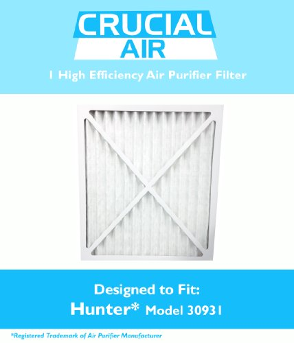 1 Hunter 30931 Air Purifier Filter; Fits Hunter Models 30212, 30213, 30240, 30241, 30251, 30378, 30379, 30381 & 30382; Designed & Engineered by Crucial Air