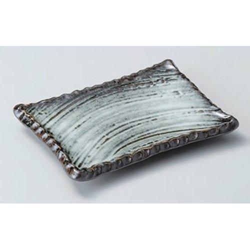 Grilled Fish Plate utw164-6-114 [6.9 x 5.2 x 0.9 inch] Japanece ceramic Oborozuki Kushisara tableware