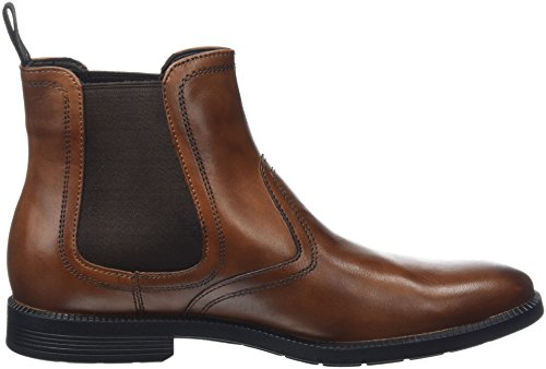 Rockport Dressports Modern Chelsea, Botines para Hombre Marrón - Brown (New Brown Leather)