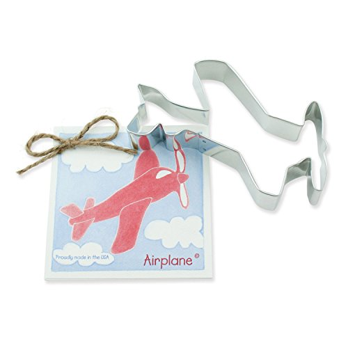 Airplane Cookie and Fondant Cutter - Ann Clark - 5.4 Inches - US Tin Plated Steel