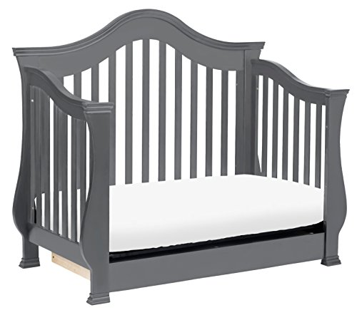 Million Dollar Baby Classic Ashbury 4-in-1 Convertible Crib with Toddler Bed Conversion Kit, Manor Grey by Million Dollar Baby Classic (Image #7)