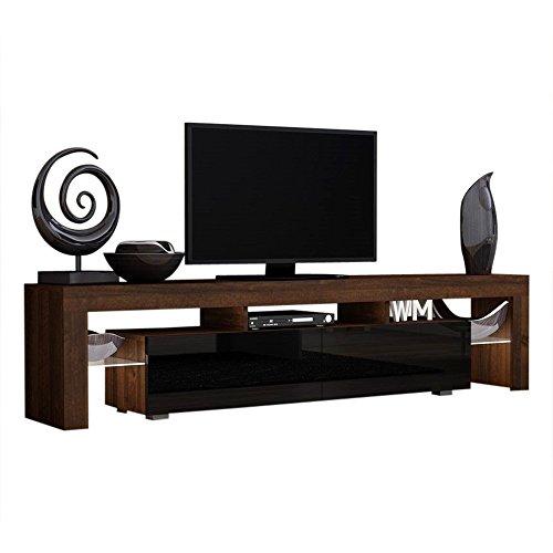 Tv stand milano 200 walnut line modern led tv cabinet - Retractable tv cabinet living room furniture ...