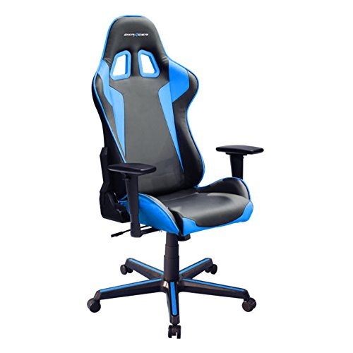 DXRacer Formula Series DOH/FH00/NB Newedge Edition Racing Bucket Seat Office Chair Gaming Chair Ergonomic Computer Chair Esports Desk Chair Executive Chair Furniture with Free Cushions (Black/Blue) DXRACER USA LLC