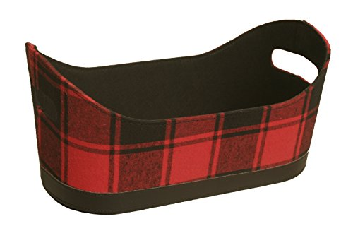 Home Plaid (Wald Imports 70004 Buffalo Red and Black Plaid Fabric Container, 7