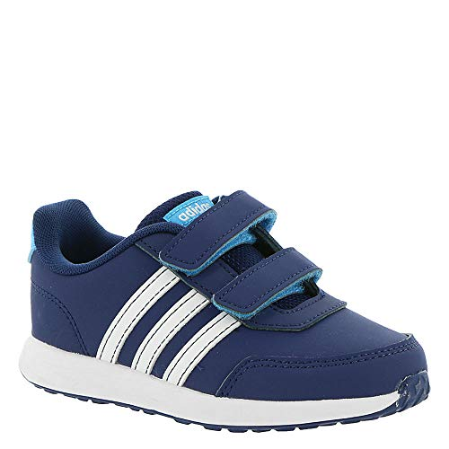adidas Kids Unisex VS Switch 2 CMF (Infant/Toddler) Dark Blue/Footwear White/Shock Cyan 8 M US Toddler