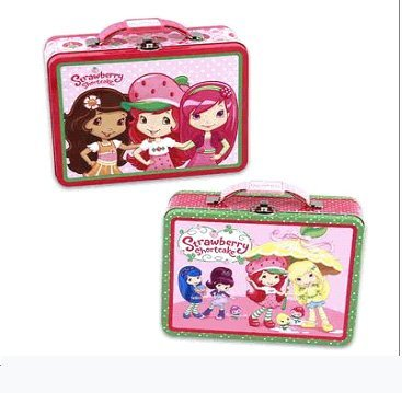 (American Greetings Assorted Strawberry Shortcake Tin Lunch Box - Large Strawberry Shortcake Tin Box)