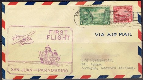 United States Airmail Stamp C-6 First Flight Cover