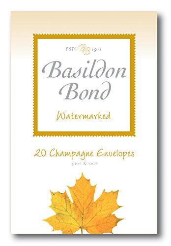 (Basildon Bond Champagne Envelopes - Watermarked - Pack of 20 - Size 143mm X 95mm)