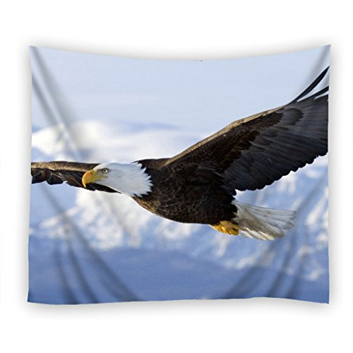 Moslion Wall Tapestry, Beautiful Eagles One Side Home Decor Tapestry, Polyester Fabric Tapestries Wall Art Hanging 51 X 60 Inches - Eagle Tapestry