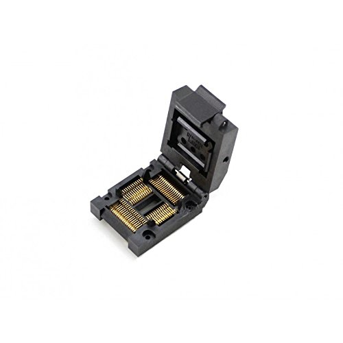 Test and Burn-in Socket Pitch CQRobot 1.0mm IC51-0644-820-5, Test and Burn-in Socket, Yamaichi IC Test and Burn-in Socket, for QFP64/TQFP64/FQFP64/PQFP64 Package.